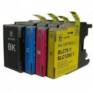 Set de 4 cartouches compatibles LC1280XL BK, C, M, Y