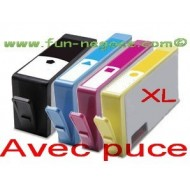 Set de 4 cartouches compatibles HP364, BK, C, M, Y