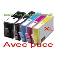 Set de 5 cartouches compatibles HP364, BK, BKPH, C, M, Y