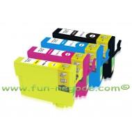 Set de 4 cartouches compatibles T1281, T1282, T1283, T1284