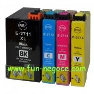 Set de 4 cartouches compatibles T2711, T2712, T2713, T2714