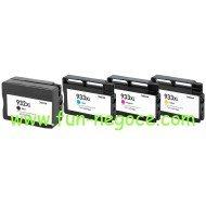 Set de 4 cartouches compatibles HP932XL BK, HP933XL, C, M, Y