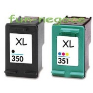 Set de 2 cartouches remanufacturées HP350 BK XL, HP351 Colors XL