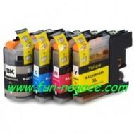 Set de 4 cartouches compatibles LC127XL BK, LC125XL C, M, Y