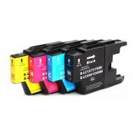 Set de 4 cartouches compatibles LC1240 / LC1220 BK, C, M, Y