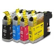 Set de 4 cartouches compatibles LC123XL BK, C, M, Y