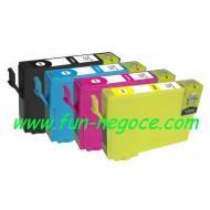 Set de 4 cartouches compatibles T1811, T1812, T1813, T1814
