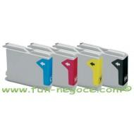 Set de 4 cartouches compatibles LC1000 / LC970 BK, C, M, Y