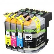 Set de 4 cartouches compatibles LC227XL BK, LC225XL C, M, Y