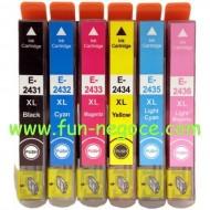 Set de 6 cartouches compatibles T2431, T2432, T2433, T2434, T2435, T2436