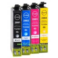 Set de 4 cartouches compatibles T2991XL, T2992XL, T2993XL, T2994XL