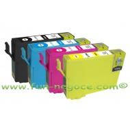 Set de 4 cartouches compatibles T1291, T1292, T1293, T1294