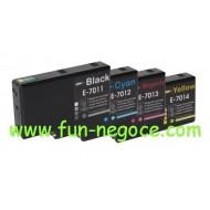 Set de 4 cartouches compatibles T7011, T7012, T7013, T7014