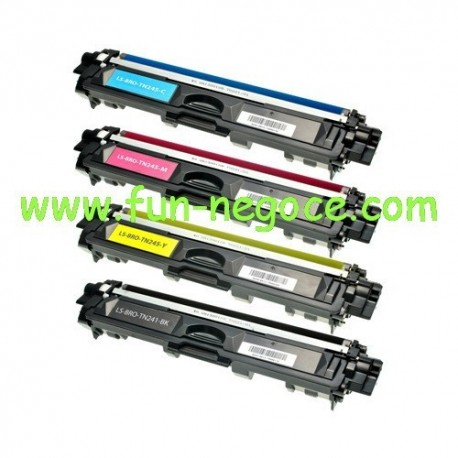 Set de 4 toners compatibles Brother TN241BK, TN245C, M, Y