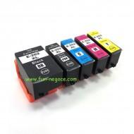 Set de 5 cartouches compatibles T202XL BK, PBK, C, M, Y