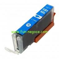 Cartouche compatible CLI581XXL C