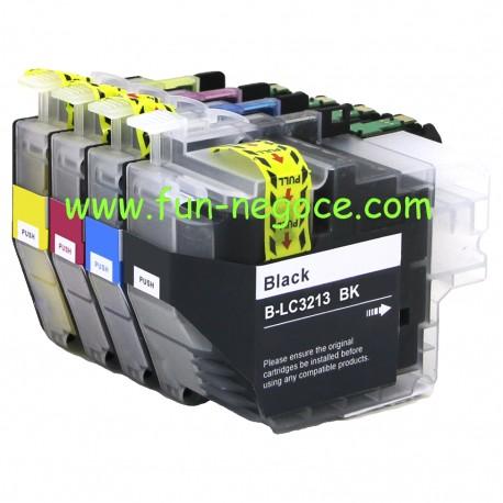 Set de 4 cartouches compatibles LC3213XL BK, C, M, Y
